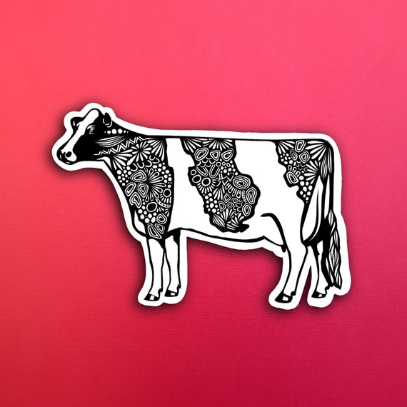 Cow Sticker (WATERPROOF)