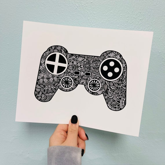 Game Controller Print