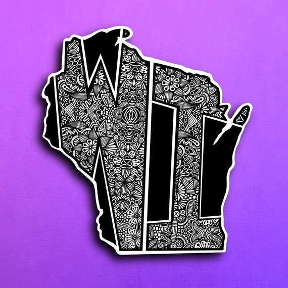 Wisconsin Sticker (WATERPROOF)