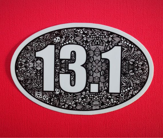 13.1 Half Marathon Sticker (WATERPROOF)
