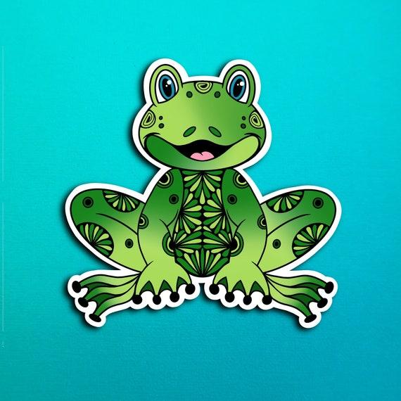 Fredi the Frog Sticker (WATERPROOF)