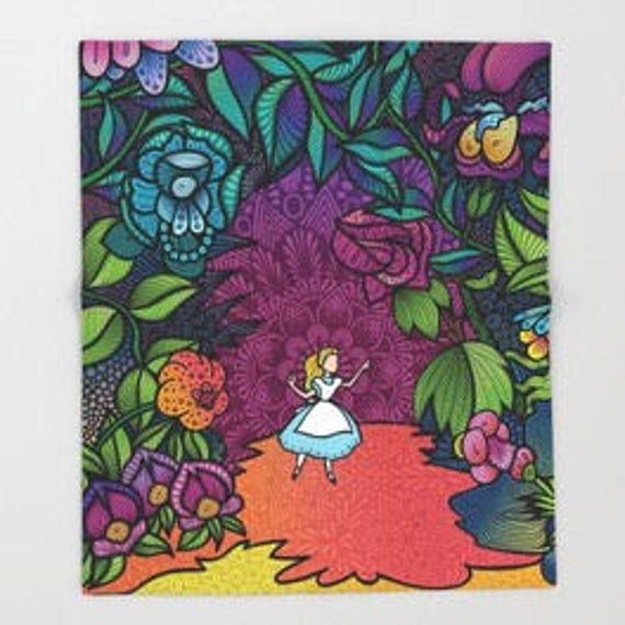 Wonderland Throw Blanket
