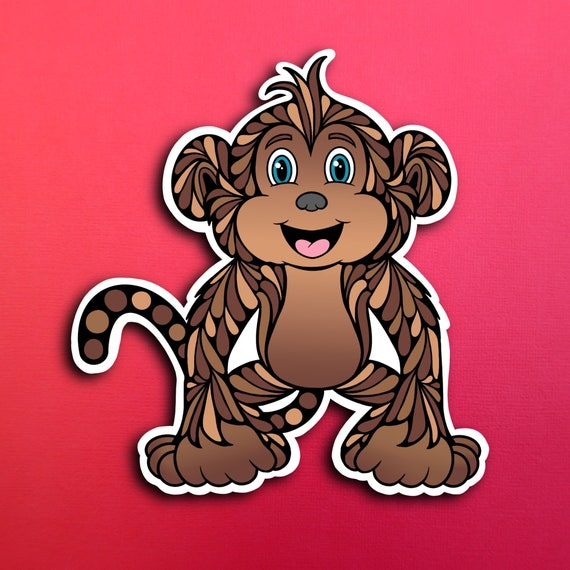 Miles the Monkey the Sticker (WATERPROOF)