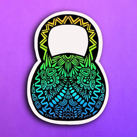 Kettlebell Sticker (WATERPROOF)