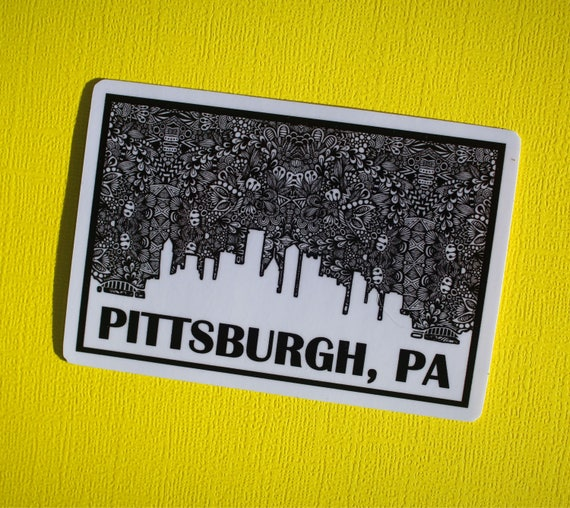 Pittsburgh, PA Sticker (WATERPROOF)