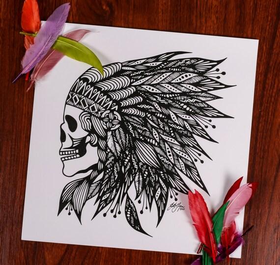 Feather Skull