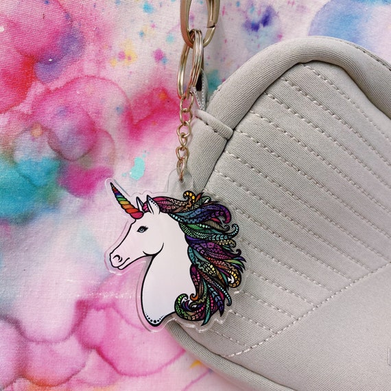 Unicorn Acrylic Keychain