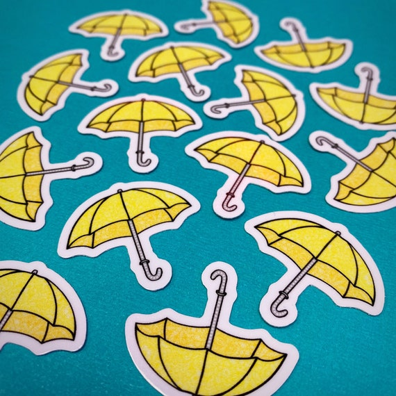 Mini Umbrella Sticker (WATERPROOF)