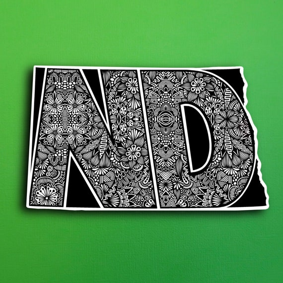 North Dakota  Sticker (WATERPROOF)