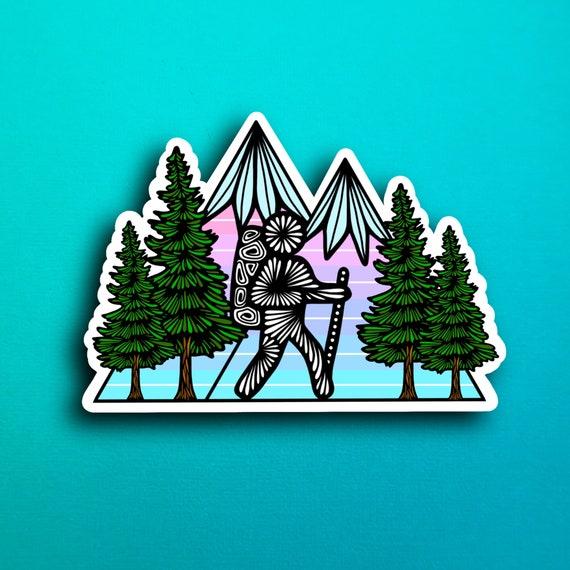 Hiking Trees Sticker (WATERPROOF)