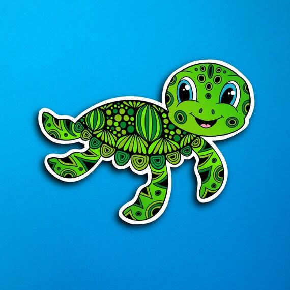 Timmy the Turtle Sticker (WATERPROOF)
