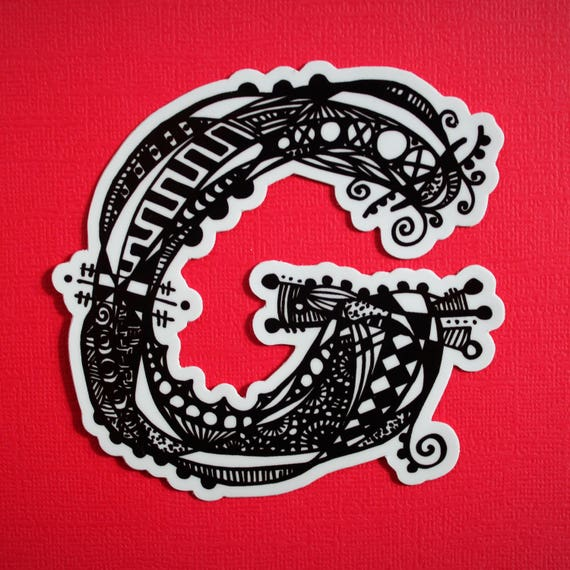 Letter G Sticker (WATERPROOF)