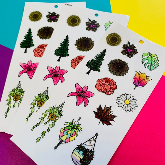 Mini Flowers Sticker Sheet (WATERPROOF) (WATERPROOF)