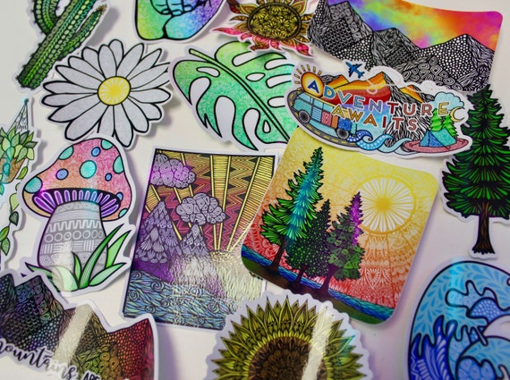 Nature Themed Mystery Pack (5 waterproof stickers)