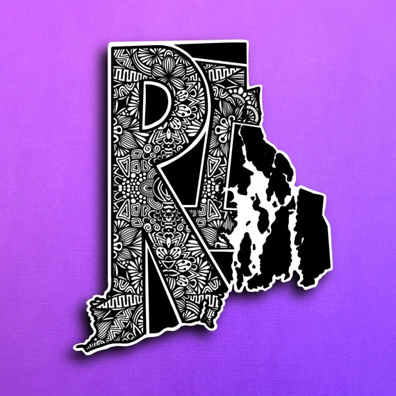 State Rhode Island Sticker (WATERPROOF)