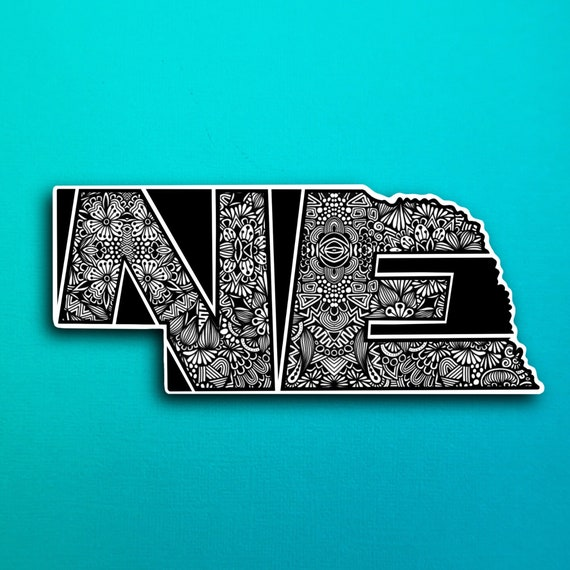 State Nebraska Sticker  (WATERPROOF)