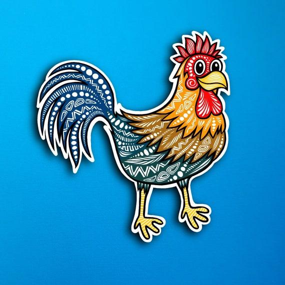 Rooster Sticker (WATERPROOF)
