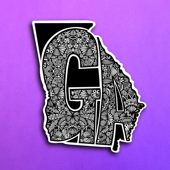 State Georgia Sticker (WATERPROOF)