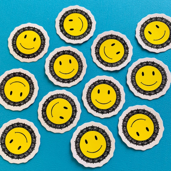 Mini Smiley Face Sticker (WATERPROOF)