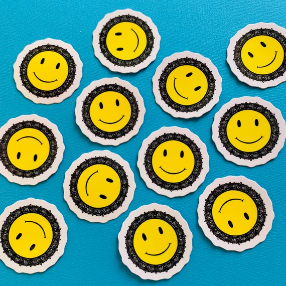 Mini Smiley Face Sticker