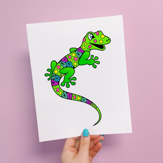 Lealon the Lizard Print