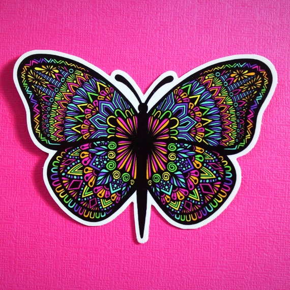 Butterfly Colored Sticker (WATERPROOF)