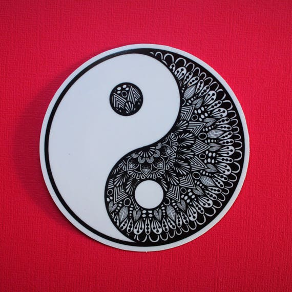 Ying Yang Sticker (WATERPROOF)