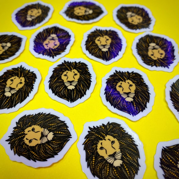 Mini Lion Sticker (WATERPROOF)