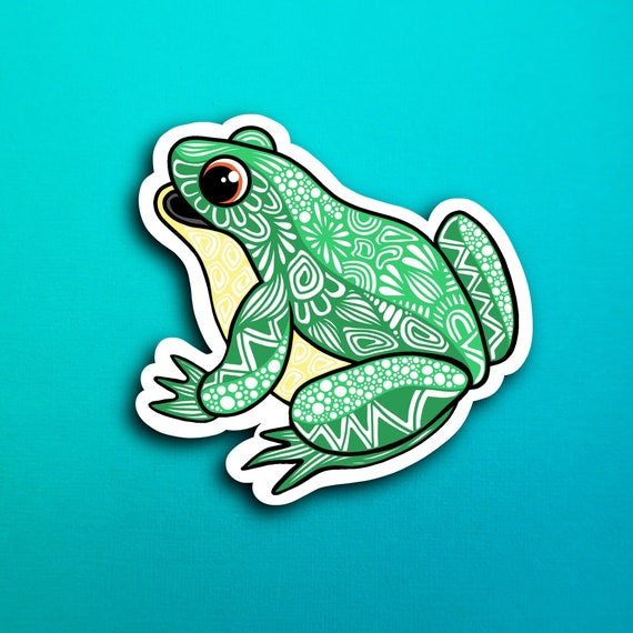 Sitting Frog Sticker (WATERPROOF)