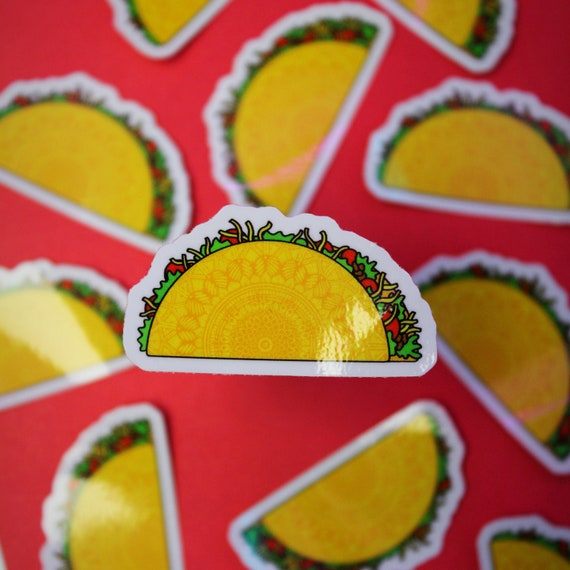 Mini Taco Sticker (WATERPROOF)