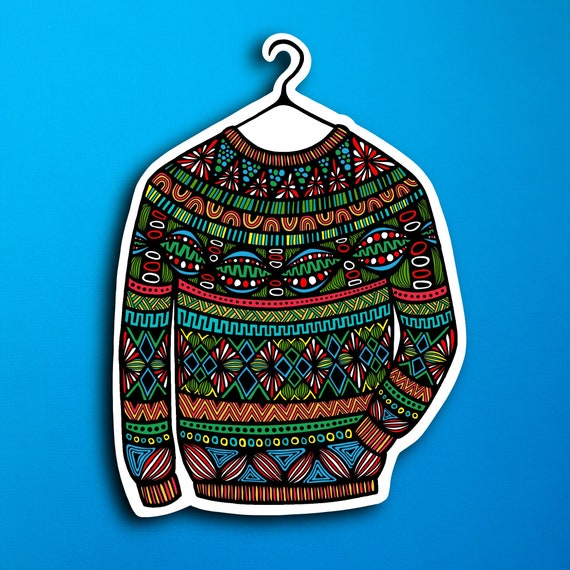 Ugly Sweater Sticker (WATERPROOF)