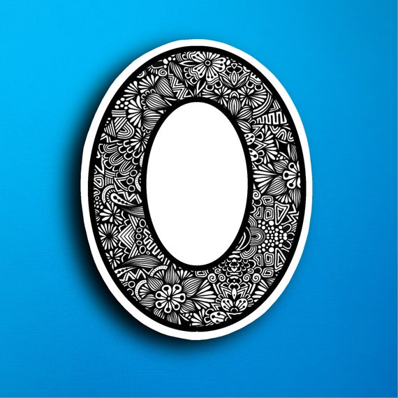 Small Block Letter O Sticker (WATERPROOF)