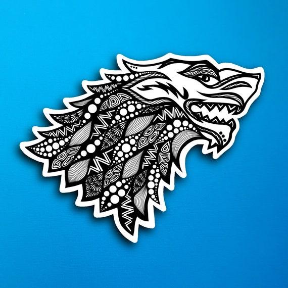 House Stark Sticker (WATERPROOF)