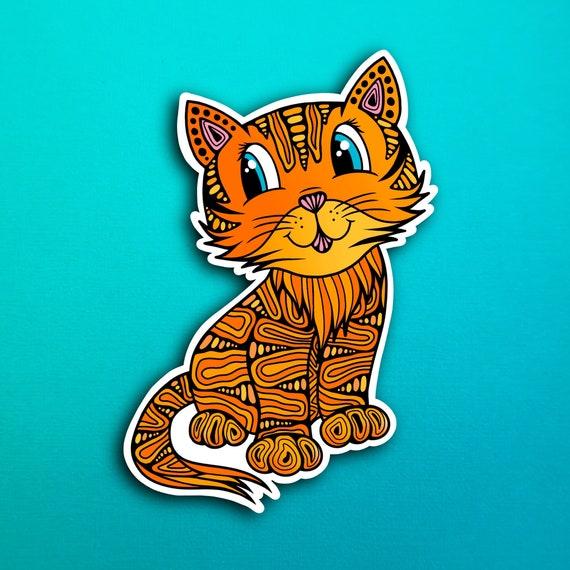 Connor the Cat Sticker (WATERPROOF)