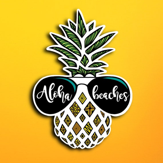 Aloha Beaches Sticker (WATERPROOF)