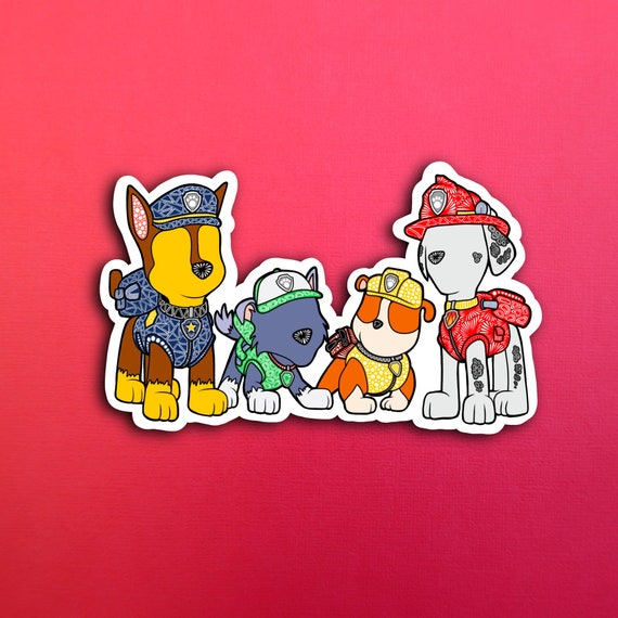 Faceless Paw Sticker (WATERPROOF)