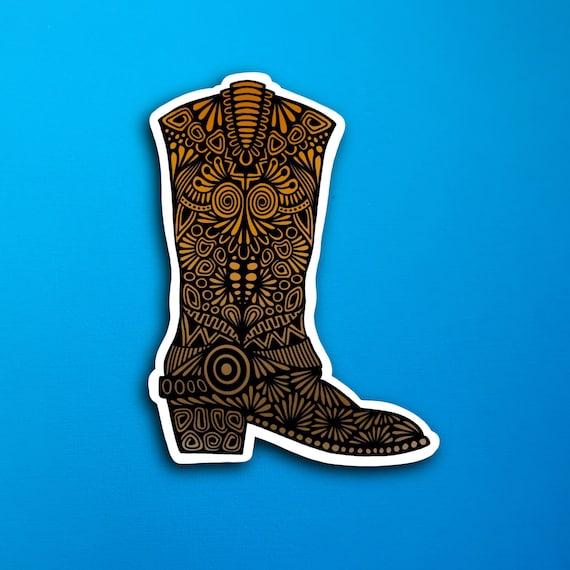 Western Boot Sticker (WATERPROOF)