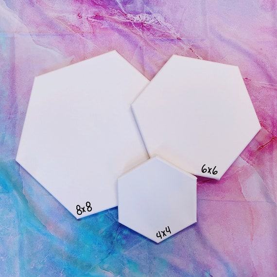 CUSTOM Hexagon Alcohol Ink Canvas