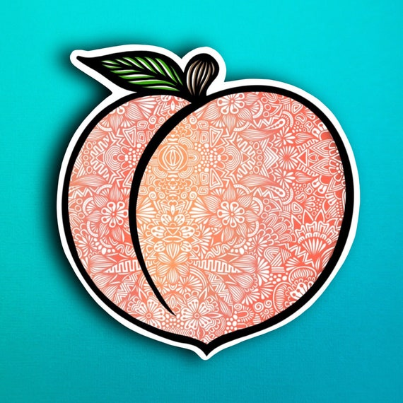 Peach Sticker (WATERPROOF)