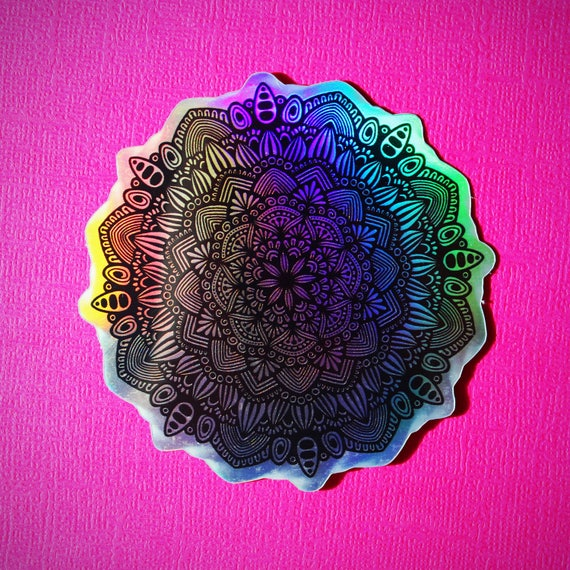 Holo Mandala Sticker (WATERPROOF)