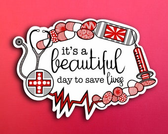 Save Lives Sticker (WATERPROOF)