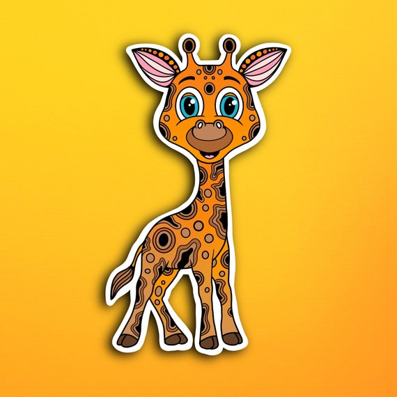 Gigi the Giraffe Sticker (WATERPROOF)