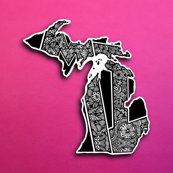 State Michigan Sticker (WATERPROOF)