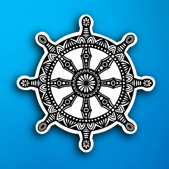 Dharma Wheel Sticker (WATERPROOF)