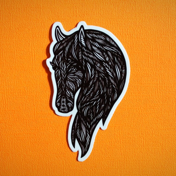 Horse Head Sticker (WATERPROOF)