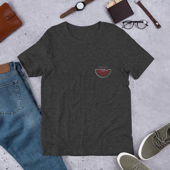 Watermelon Pocket Design Unisex T-Shirt