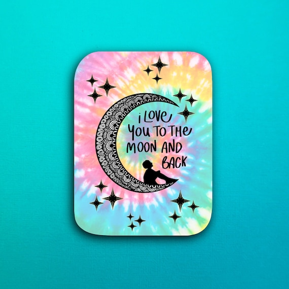 To The Moon Sticker (WATERPROOF)