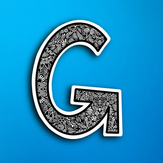 Small Block Letter G Sticker (WATERPROOF)