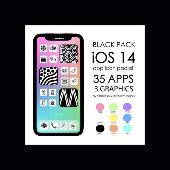 BLACK iOS 14 App Icons!