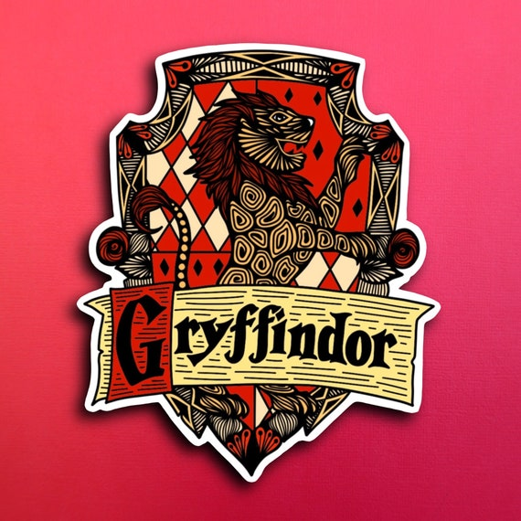 Gryffindor Sticker (WATERPROOF)